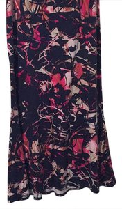 Pure Energy Maxi Skirt Navy and Pink Print