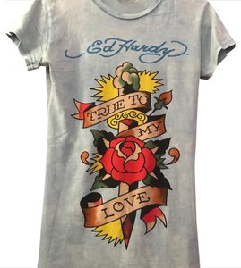 Ed Hardy T Shirt blue
