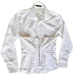 Gucci Cotton Shirt Top White
