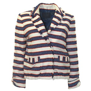 J.Crew Pre-owned Striped Roll-up Sleeves Legion Stripe Jacket