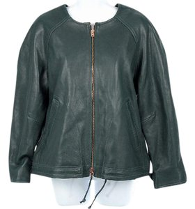 J.Crew Women's Leather Collection Leather Spring Green Leather Jacket