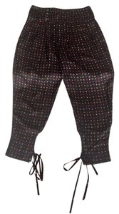 Isabel Marant Silk Isabel Harem Capri/Cropped Pants Black with orange and red print