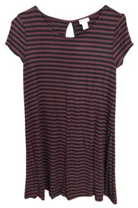 Mossimo Supply Co. short dress Black and Brown Stripe on Tradesy