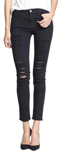 Frame Denim Ripped Rip Skinny Distressed Skinny Jeans-Distressed