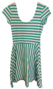 Derek Heart short dress Teal and White on Tradesy