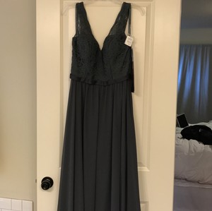 Madeline Gardner New York Charcoal Charocal Bridesmaid Dress Dress