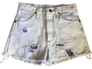 Wrangler - Renewed Vintage 2-4 Cutoffs Levi's Boho Patched Distressed Shorts