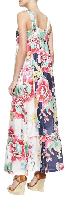 """Item - Multicolor XL Flowy Silk and Slip Summer Florals New 42"""" Bust Long Casual Maxi Dress Size 16 (XL, Plus 0x)"""