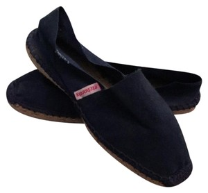 authentic French countryside espadrilles navy blue with blue stitching Flats