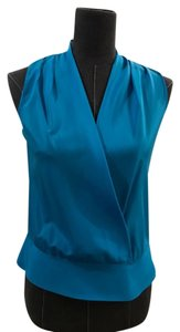 Ann Taylor Silk Top Turquoise