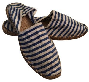 authentic French espadrilles. blue and white stripes Flats