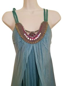 Free People Turquoise Blue Halter Top