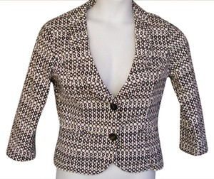 CAbi Du Jour 298 Ruched Print Black & White Jacket