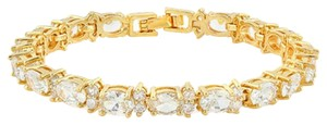 Other 16ct 14k Gold Filled Created White Sapphire tennis bracelet