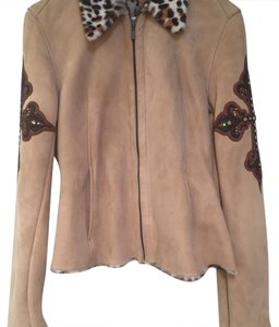 Kippys Black, Tan and Brown Leather Jacket