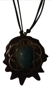 Third Eye Pinecones Aquamarine Pendant