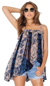 Free People Vintage Vibe Festival Secret Love Top Dark Blue