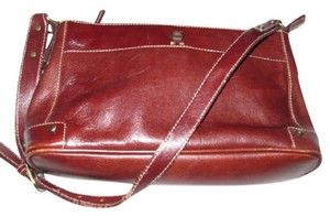 Etienne Aigner Multiple Compartment Great Everyday High-end Bohemian Excellent Vintage Ox-blood & Brass Shoulder Bag