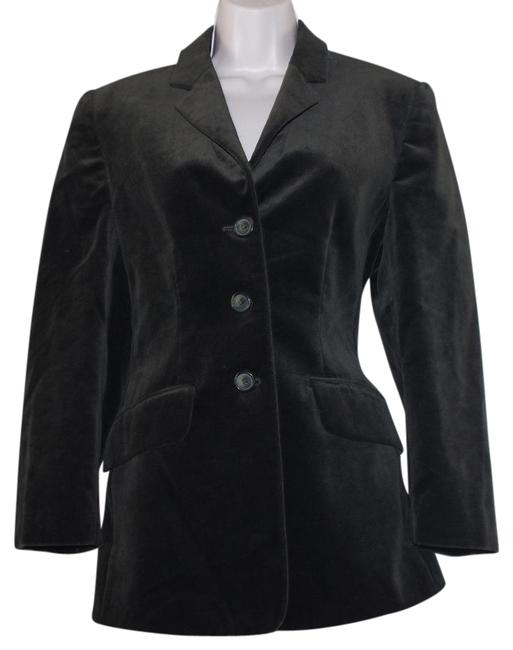 Item - Green Velvet Cotton Women Blazer Size 6 (S)