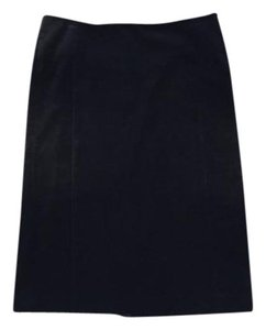 Club Monaco Velvet Pencil Fancy Skirt Black
