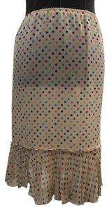 Moschino Size 8 Multi-colored Skirt Cream, multi