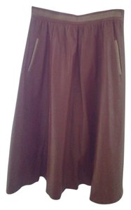 Anne Marie Saillant Made In France Maxi Skirt brown