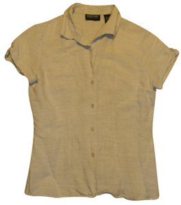 New York & Company Tan Ny&c Button Down Shirt Beige