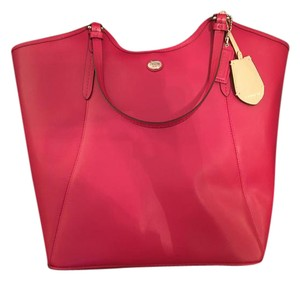 Coach Tote in Raspberry