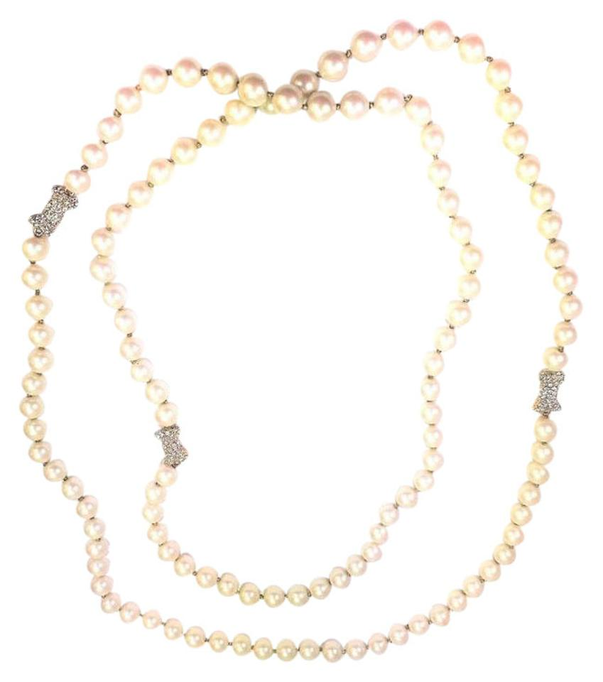 Kate Spade Kate Spade All Wrapped Up Pearl Necklace Nwt Long Wrap 54