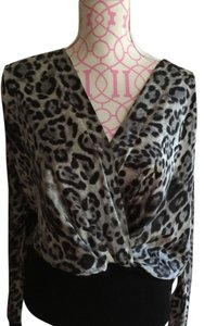 Robert Rodriguez/ perfect for Christmas Top Animal print/ grey.black