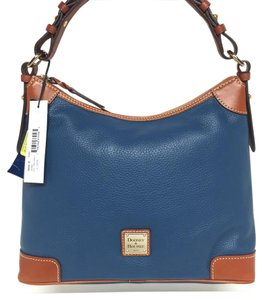 Dooney & Bourke Pebble Leather R924 & Blue Hobo Bag