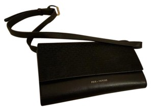 Pour La Victoire Leather black Clutch