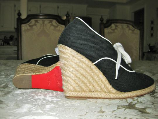 Christian Louboutin Black and White Wedges