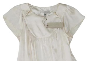 Banana Republic Silk Party Classic Spring Summer Top White
