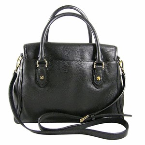 Michael Kors Soft Leather Satchel in Black