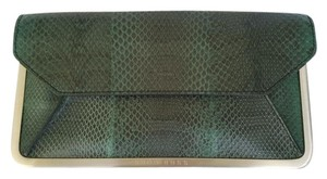 Hugo Boss Handbag Leather green snakeskin envelope Clutch