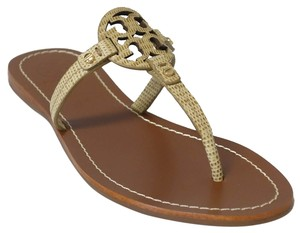 e697e90ae6c5 Tory Burch Mini Miller Trench Tan Sandals - item med img. Tory Burch.  Trench Tan Mini Miller Flat Thong Leather Sandals. Size  US 7