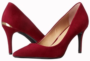 Calvin Klein red suede Pumps