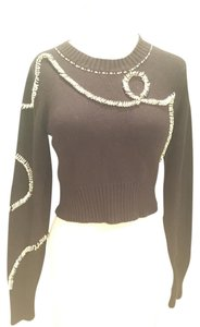 Topshop Crop Embellished Sweater