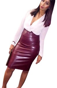 fashion nova Skirt burgundy rust