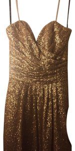 SORELLA VITA Gold Sorella Vita Style 8834 In Gold Sequins Dress