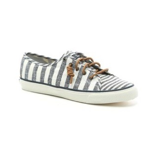 Sperry white, blue stripes Athletic
