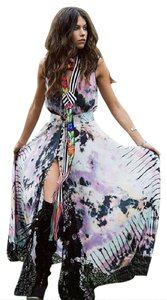 black, pink, blue Maxi Dress by Free People