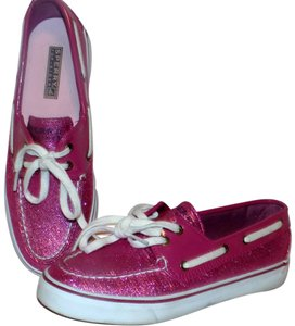 Sperry Classic Bold Comfortable Glitter Sparkle Pink Mules