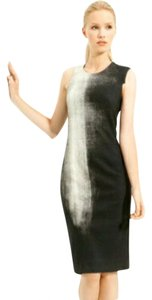 Helmut Lang Silk Wool Asymmetric Shift Sheath Dress