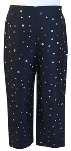 Talbots Capri/Cropped Pants navy blue