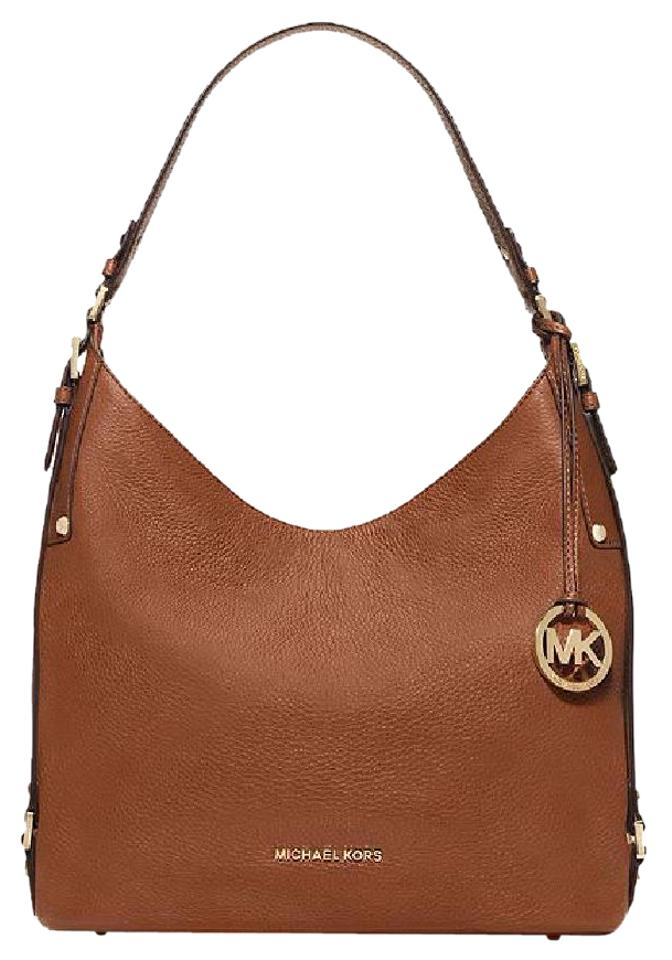 b71de19222fc Michael Kors Bedford Belted Luggage Shoulder Bag - Tradesy