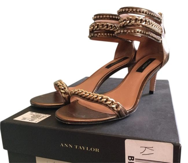 Item - Bronze W/Chain Detail Shelby Sandals Size US 7.5
