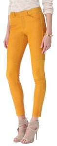 A.L.C. Leather Stretchy Skinny Pants Yellow