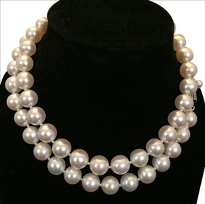 Mikimoto ESTATE LARGE AKOYA PEARL 7-6.5 MM 18 IN NECKLACE STERLING SILVER #17018